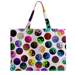 Ying Yang Seamless Color Cina Zipper Mini Tote Bag