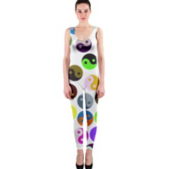 Ying Yang Seamless Color Cina OnePiece Catsuit