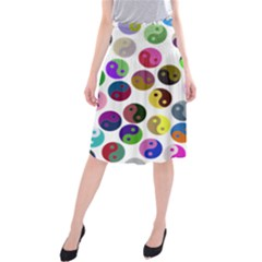 Ying Yang Seamless Color Cina Midi Beach Skirt