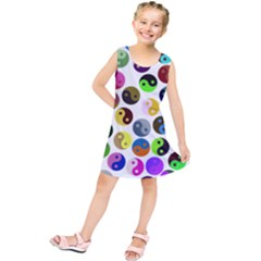 Ying Yang Seamless Color Cina Kids  Tunic Dress