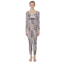 Jared Flood s Wool Cotton Long Sleeve Catsuit