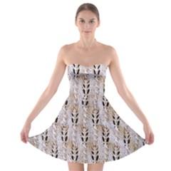 Jared Flood s Wool Cotton Strapless Bra Top Dress