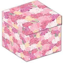 Peonies Flower Floral Roes Pink Flowering Storage Stool 12