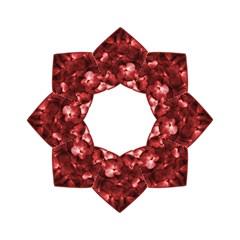Floral Heart Shape Ornament Hook Handle Umbrellas (Medium)