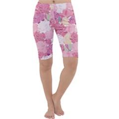 Peonies Flower Floral Roes Pink Flowering Cropped Leggings