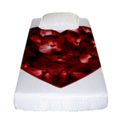Floral Heart Shape Ornament Fitted Sheet (Single Size)