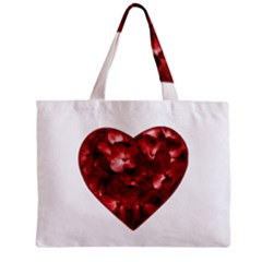 Floral Heart Shape Ornament Zipper Mini Tote Bag