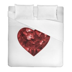 Floral Heart Shape Ornament Duvet Cover (Full/ Double Size)