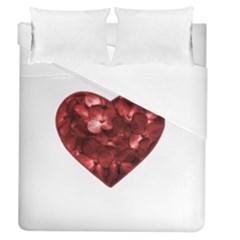 Floral Heart Shape Ornament Duvet Cover (Queen Size)