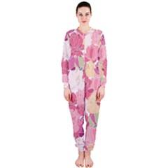 Peonies Flower Floral Roes Pink Flowering OnePiece Jumpsuit (Ladies)