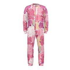 Peonies Flower Floral Roes Pink Flowering OnePiece Jumpsuit (Kids)