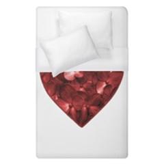 Floral Heart Shape Ornament Duvet Cover (Single Size)