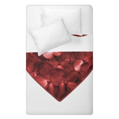 Floral Heart Shape Ornament Duvet Cover Double Side (Single Size)