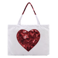 Floral Heart Shape Ornament Medium Tote Bag