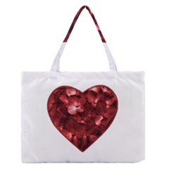 Floral Heart Shape Ornament Medium Zipper Tote Bag