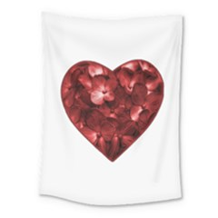 Floral Heart Shape Ornament Medium Tapestry