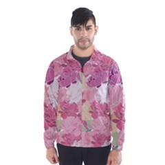 Peonies Flower Floral Roes Pink Flowering Wind Breaker (Men)