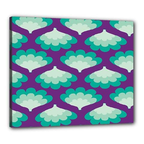 Purple Flower Fan Canvas 24  x 20