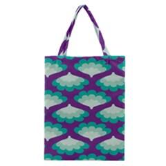Purple Flower Fan Classic Tote Bag