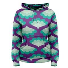 Purple Flower Fan Women s Pullover Hoodie
