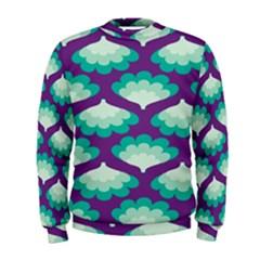 Purple Flower Fan Men s Sweatshirt
