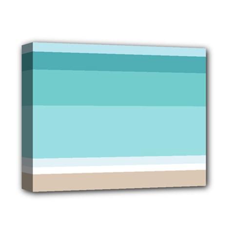 Rainbow Flag Deluxe Canvas 14  x 11