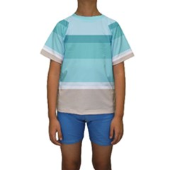 Rainbow Flag Kids  Short Sleeve Swimwear