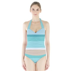 Rainbow Flag Halter Swimsuit