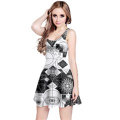 Point Line Plane Themed Original Design Reversible Sleeveless Dress