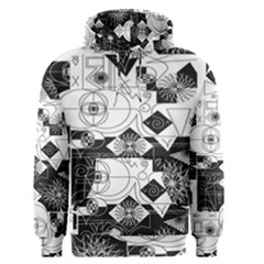 Point Line Plane Themed Original Design Men s Pullover Hoodie