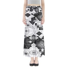 Point Line Plane Themed Original Design Maxi Skirts