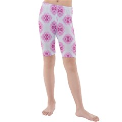 Peony Photo Repeat Floral Flower Rose Pink Kids  Mid Length Swim Shorts
