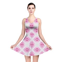 Peony Photo Repeat Floral Flower Rose Pink Reversible Skater Dress
