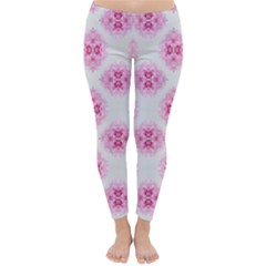 Peony Photo Repeat Floral Flower Rose Pink Classic Winter Leggings