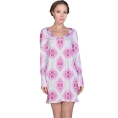Peony Photo Repeat Floral Flower Rose Pink Long Sleeve Nightdress
