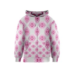 Peony Photo Repeat Floral Flower Rose Pink Kids  Zipper Hoodie
