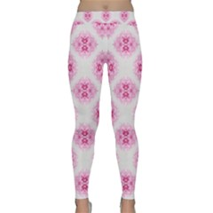 Peony Photo Repeat Floral Flower Rose Pink Classic Yoga Leggings
