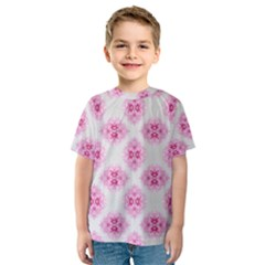 Peony Photo Repeat Floral Flower Rose Pink Kids  Sport Mesh Tee