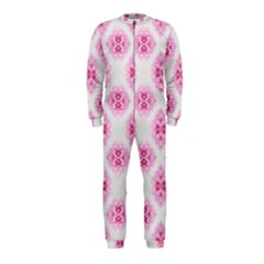Peony Photo Repeat Floral Flower Rose Pink OnePiece Jumpsuit (Kids)