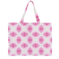 Peony Photo Repeat Floral Flower Rose Pink Large Tote Bag