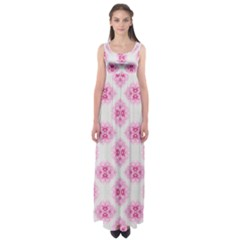 Peony Photo Repeat Floral Flower Rose Pink Empire Waist Maxi Dress