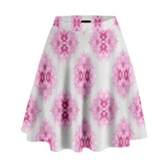 Peony Photo Repeat Floral Flower Rose Pink High Waist Skirt