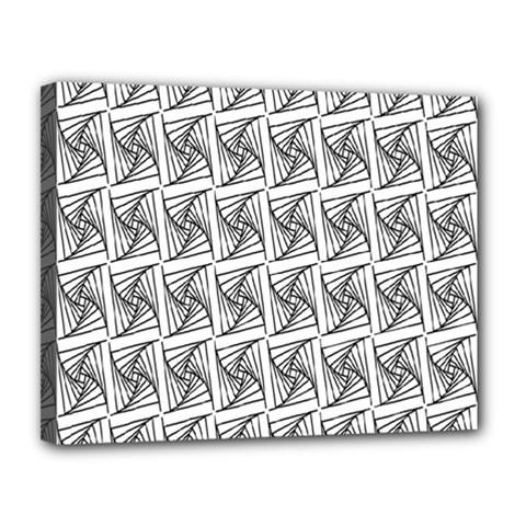 Plaid Black Canvas 14  x 11