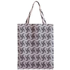 Plaid Black Zipper Classic Tote Bag