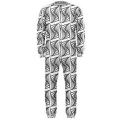 Plaid Black OnePiece Jumpsuit (Men)