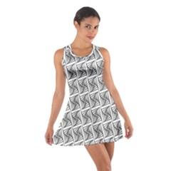 Plaid Black Cotton Racerback Dress