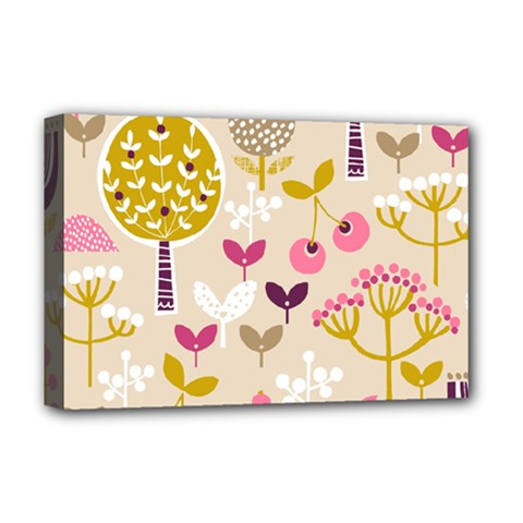 Retro Fruit Leaf Tree Orchard Deluxe Canvas 18  x 12