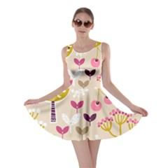 Retro Fruit Leaf Tree Orchard Skater Dress