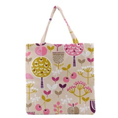 Retro Fruit Leaf Tree Orchard Grocery Tote Bag