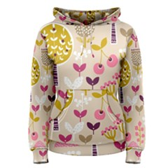 Retro Fruit Leaf Tree Orchard Women s Pullover Hoodie
